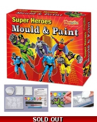 Image of Wrapped Grotto Toys - Super Hero Mould & Paint Magnets x6