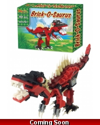 Image of Wrapped Grotto Toys - Brick-O-Saurus Building Bricks x6