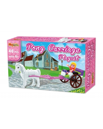 Wrapped Grotto Toys - Pony Carriage Building Bricks  x 12