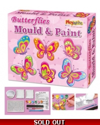Image of Wrapped Grotto Toys - Butterfly Mould & Paint Magnets x 6