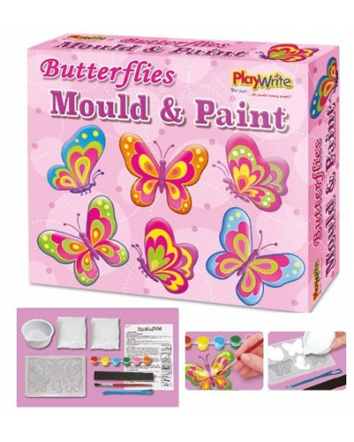 Wrapped Grotto Toys - Butterfly Mould & Paint Magnets x 6