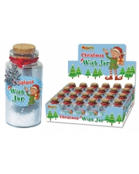 Image of 24 x Christmas Glass Magic Wish Jars