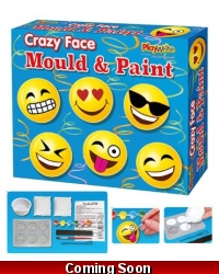 Image of Wrapped Grotto Toys - Crazy Face Mould & Paint Magnets x6
