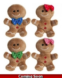 Image of 24 x Plush Mini Gingerbread Men 12cm