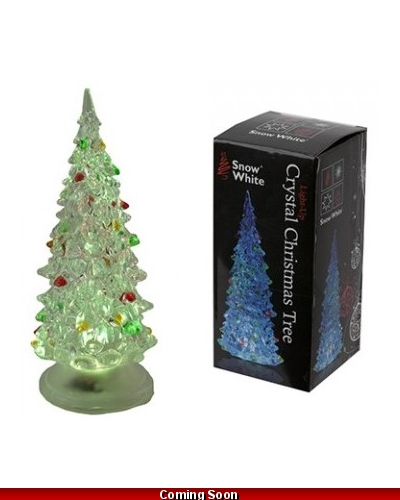 12 x Colour Changing Christmas Tree 13cm