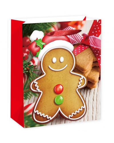 12 x Deluxe Gingerbread Gift Bags X-LARGE