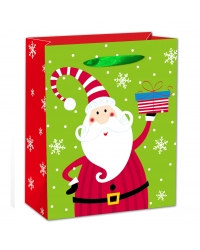 Image of 12 x Deluxe Glitter Santa XL Gift Bags