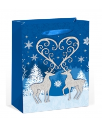 Image of 12 x Deluxe Glitter Reindeer XL Gift Bags