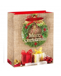 Image of 12 x Deluxe Glitter Wreath XL Gift Bags