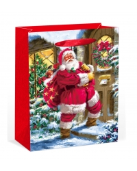 Image of 12 x Deluxe Traditional Santa XL Gift Bags