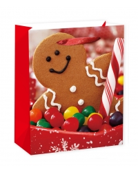 Image of 12 x Deluxe Large Gingerbread Gift Bags