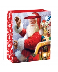 Image of 12 x Deluxe Large Traditional Santa Gift Bags