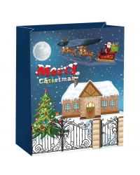 Image of 12 x Deluxe Large Glitter House Gift Bags