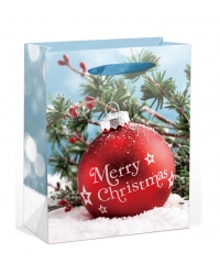 Image of 12 x Deluxe Large Glitter Bauble Gift Bags