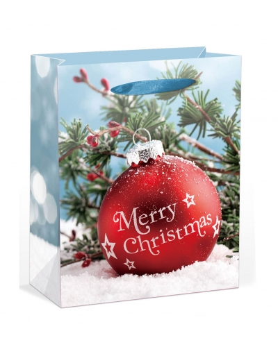 12 x Deluxe Large Glitter Bauble Gift Bags