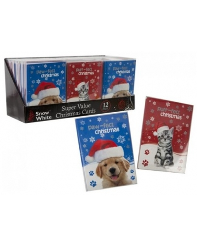 24 x Packs of 12 Pet Christmas Cards