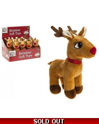 Image of 12 x Plush Reindeer Soft Toys 7