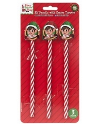 Image of 24 x Elf Pencil & Eraser Sets 3 pk