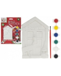 Image of 12 x Paint Your Own Christmas Elf Doors