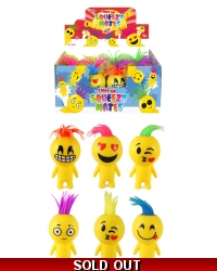 Image of 12 x Light Up Squeeze Emoji Smile Man