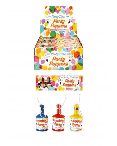 12 x Party Confetti Poppers 12 pk