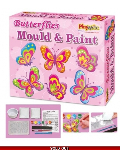 6 x Butterfly Mould & Paint Magnet Sets