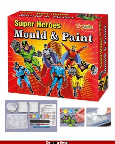 6 x Super Hero Mould & Paint Magnet Sets