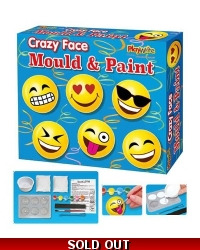 Image of 6 x Emoji Mould & Paint Magnet Sets