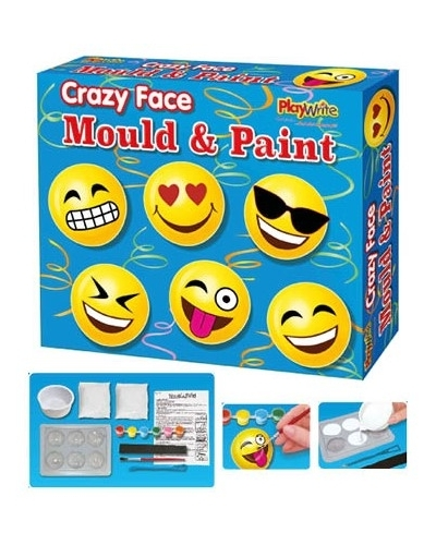 6 x Emoji Mould & Paint Magnet Sets