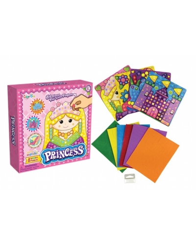 12 x Princess Mosaic Picture Art Sets