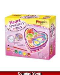 Image of 6 x Paint Your Own Heart Jewellery Boxes