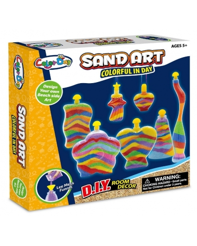 6 x Large 7 Bottle Sand Art Craft Sets