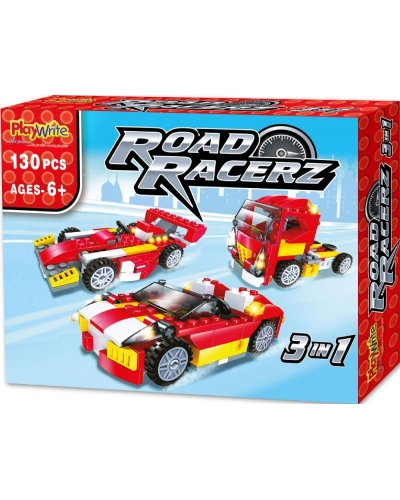 6 x Road Racerz 3in1 Building Brick Sets