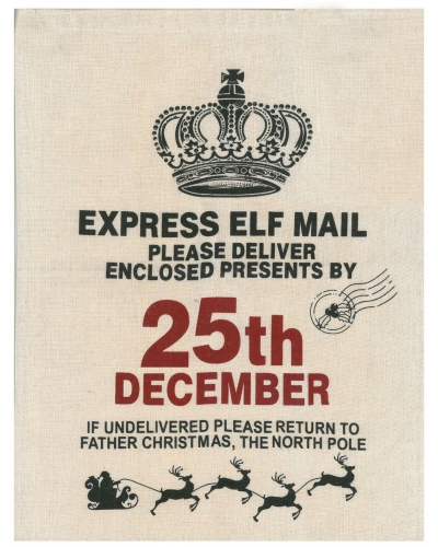 6 x Christmas Elf Mail Sacks