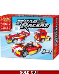 Image of Wrapped Grotto Toys - Road Racerz 3in1 Bricks Set x 6