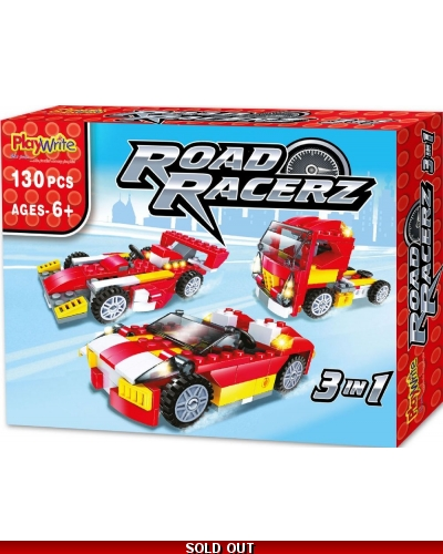 Wrapped Grotto Toys - Road Racerz 3in1 Bricks Set x 6