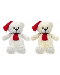 Image of 12 x Plush Sitting Long Pile Xmas Bear