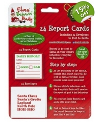 Image of 24 x Christmas Elf Daily Report Cards 24 pk