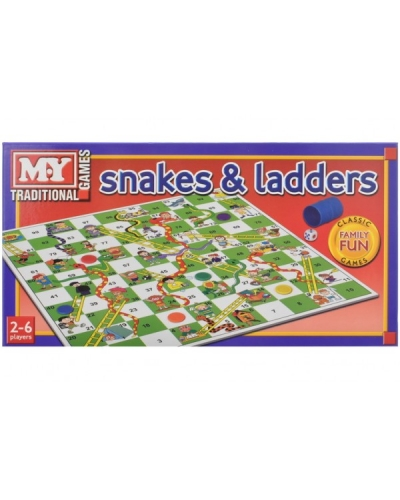 6 x Boxed Snakes & Ladders Board Games