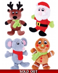 Image of 12 x Plush Christmas Buddies 15cm