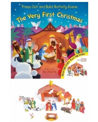 Image of 12 x Press Out & Build Nativity Scene Books