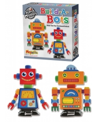 Image of 6 x Make Your Own Clockwork Robots Craft Set