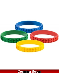 Image of 12 x Building Brick Silicone Bracelets
