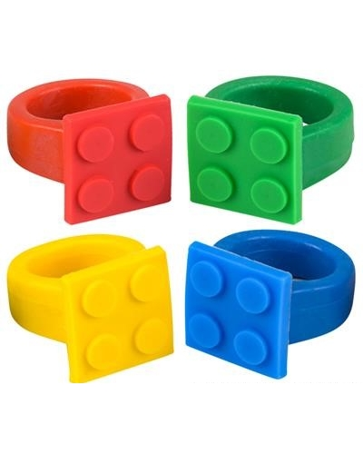 36 x Silicone Building Brick Rings