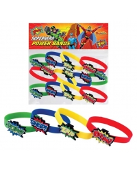 Image of 12 x Silicone Super Hero Power Bands