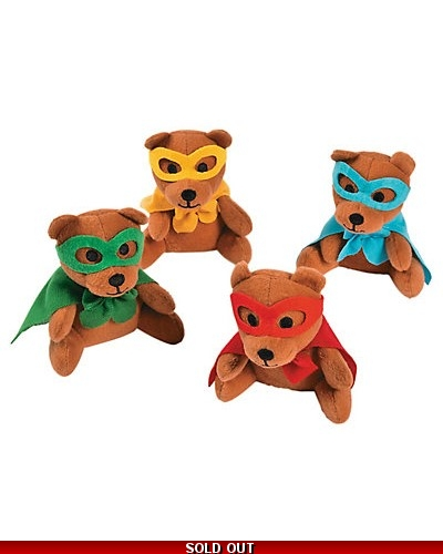 Plush Super Hero Teddy Bears 13cm