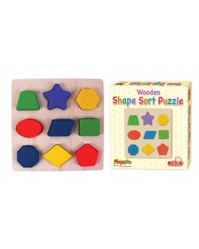 12 x Wooden Shape Sorting Puzzles