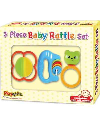 6 x Baby 3 Piece Rattle Sets