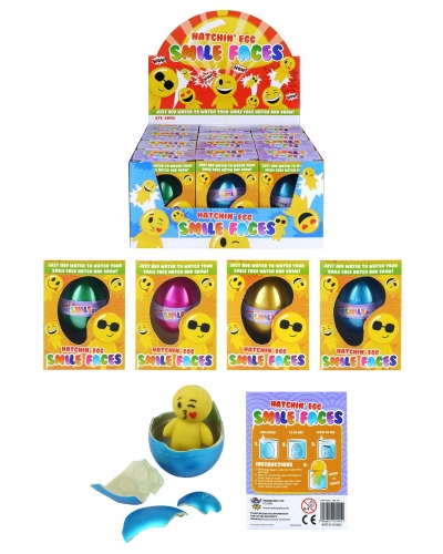 12 x Growing Emoji Man Eggs 65mm