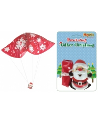 Image of 24 x Parachuting Father Christmas Toys